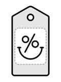 Sprzedaży etykietki logo Obrazy Stock