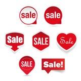 Sprzedaży etykietki majcheru set Fotografia Stock