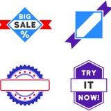 Sprzedaży foki znaczka mieszkania ikony Zdjęcie Stock