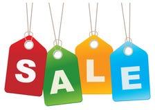 sprzedaży kartonowe etykietki Fotografia Stock
