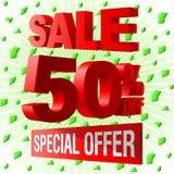 Sprzedaży oferty 3d specjalny advetising blok royalty ilustracja