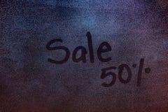 50 sprzedaży procent znak Zdjęcie Royalty Free