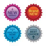 Sprzedaży promoci odznaki ilustracja wektor