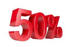 50% sprzedaży rabat Obrazy Royalty Free