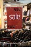 50% sprzedaży znak Zdjęcie Royalty Free