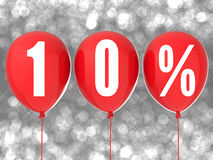 10% sprzedaży znak Zdjęcia Royalty Free