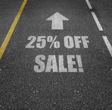 Sprzedaż z 25% daleko Obrazy Royalty Free