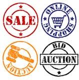 sprzedaż znaczków gumowych Zdjęcia Royalty Free