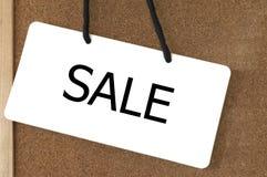 Sprzedaż znaka etykietka Fotografia Royalty Free