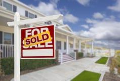 Sprzedający Do domu Dla sprzedaży Real Estate domu i znaka Obrazy Royalty Free