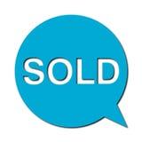 Sprzedający z cieniem, mowa bąbel Zdjęcie Stock