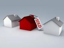Sprzedający domowy 3d royalty ilustracja