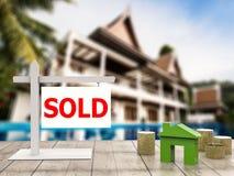 Sprzedający domu znak Obraz Royalty Free