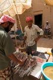 Sprzedaje ryba w Jemen obraz stock
