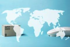 Sprzedawać Online pojęcie Światowa mapa zrobi komputerowe grafika fotografia royalty free