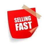 Sprzedawać szybkiego majcheru ilustracja wektor