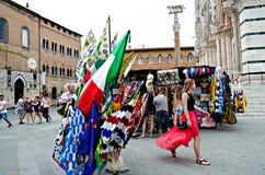 Sprzedawać flaga Palio Siena Zdjęcia Stock