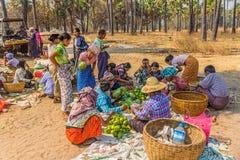 Sprzedawań warzywa przy miejscowego rynkiem Obraz Stock
