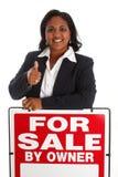 sprzedawanie domowa kobieta Zdjęcie Stock