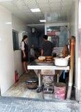 Sprzedawanie goście restauracji w Chiny obraz stock