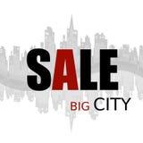 Sprzedawanie reklama w dużym mieście Obrazy Royalty Free