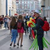 Sprzedawców ulicznych balony Obrazy Stock