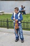 Sprzedawca chłopiec Fotografia Royalty Free