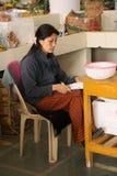Sprzedawca - stulecie rolników rynek - Thimphu, Bhutan - Obrazy Royalty Free