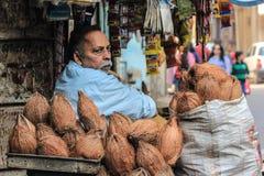 Sprzedawca uliczny, India Zdjęcia Royalty Free