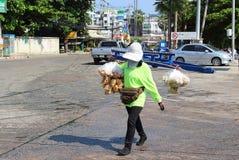 Sprzedawca uliczny przekąski fotografia royalty free