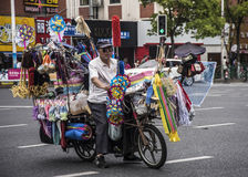 Sprzedawca uliczny, Szanghaj Zdjęcia Royalty Free
