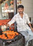 Sprzedawca uliczny w India Obraz Stock