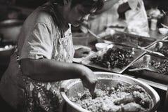 Sprzedawca uliczny w petchaburi Obrazy Royalty Free