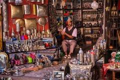 Sprzedawca w Marakesh Medina Obrazy Royalty Free