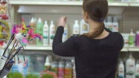 Sprzedawca w zwierzę domowe sklepie zbiory wideo