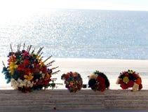 Sprzedawcy dosyć kwitną dla sprzedaży na plaży, Meksyk Fotografia Royalty Free