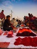 Sprzedawcy sprzedaje colours Obrazy Stock