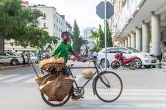 Sprzedawcy Uliczni Dar Es Salaam Zdjęcie Stock