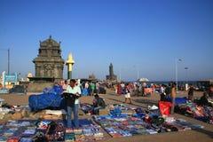 Sprzedawcy uliczni w Kanyakumari obraz stock