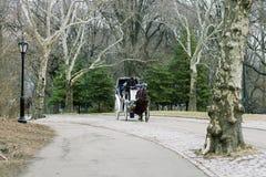 Spting Central Park à New York Chariot-tour images libres de droits