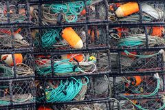 Spud Point Bodega Bay California crab pots Royalty Free Stock Photography