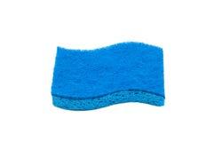 Spugna blu su bianco Fotografia Stock