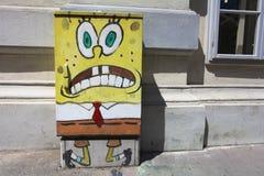Spugna Bob dei graffiti Fotografia Stock Libera da Diritti