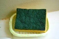 Spugna verde e gialla fotografia stock