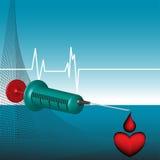 Spuit en daling van bloed royalty-vrije illustratie
