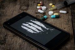 spuit en drugs Royalty-vrije Stock Afbeeldingen