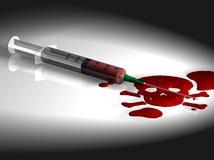 Spuit met Bloed Royalty-vrije Stock Afbeelding