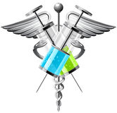 Spuit met geneeskunde vectorillustratie Stock Afbeeldingen