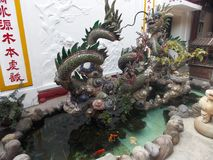 Spulpture chinois de dragon image libre de droits