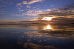 Spuma al tramonto Immagine Stock Libera da Diritti